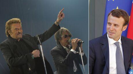 Emmanuel Macron au concert des Vieilles Canailles: Johnny le fait applaudir
