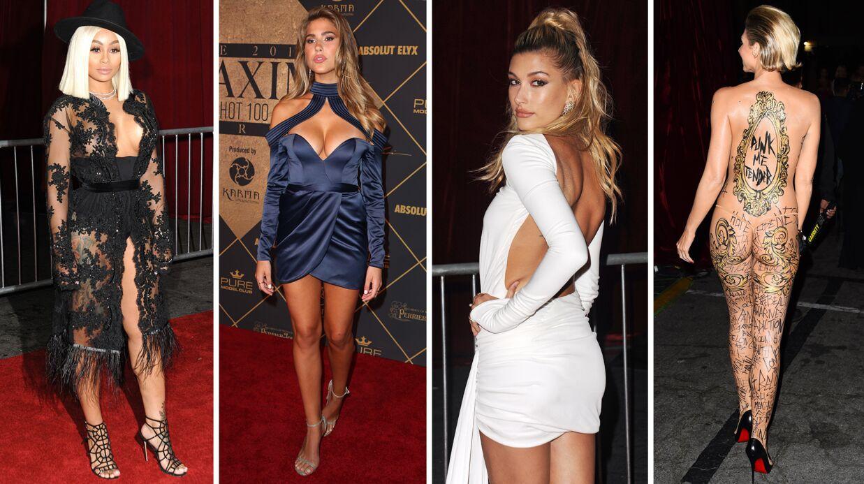PHOTOS Blac Chyna dévoile ses seins, Hailey Baldwin dos nu et court vêtue aux Maxim Hot 100
