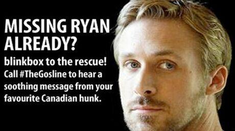La Gosline, une hotline pour les fans tristes de Ryan Gosling