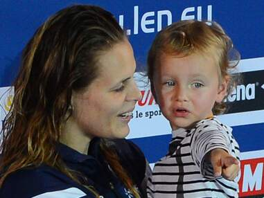 Laure Manaudou et Frédérick Bousquet avec leur fille Manon