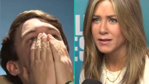 VIDEO Jennifer Aniston fait une mauvaise blague à un journaliste qui s'effondre en larmes