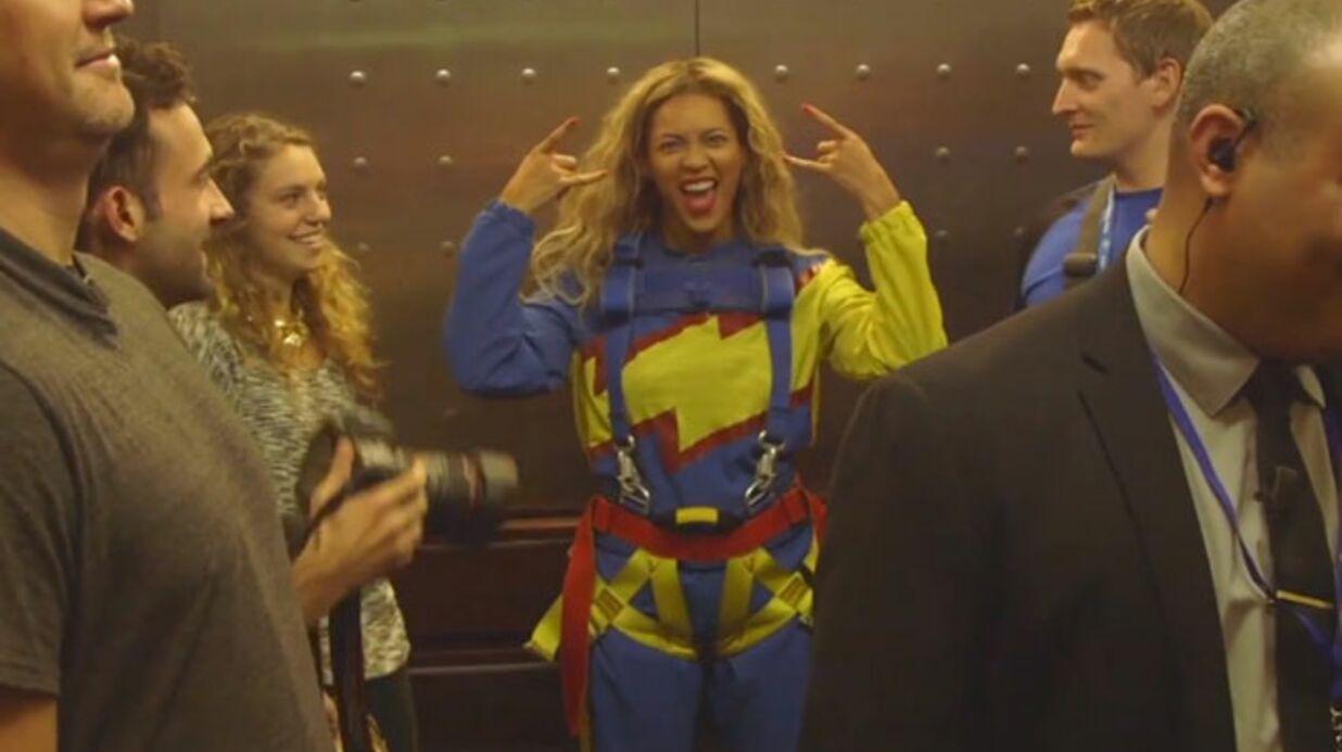 VIDEO Beyoncé s'est filmée en train de sauter dans le vide