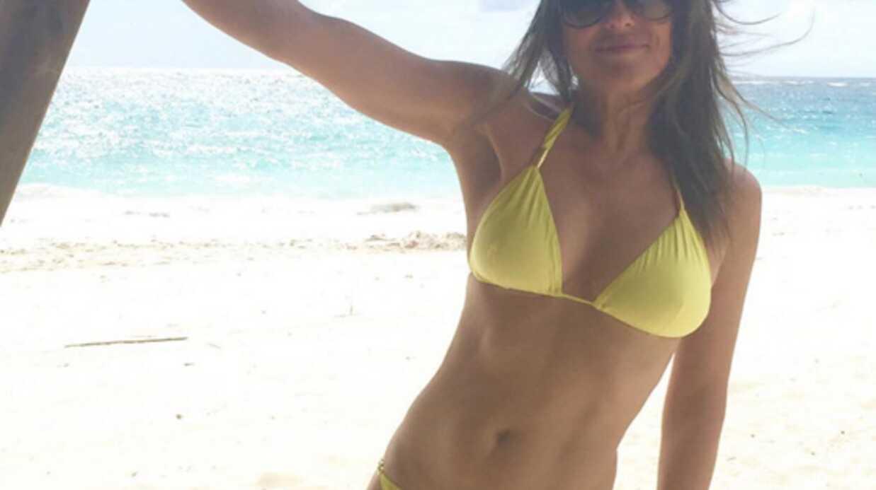 PHOTO Liz Hurley: à 50 ans, elle dévoile son corps de rêve en bikini