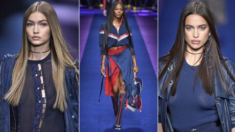 PHOTOS Gigi Hadid, Naomi Campbell, Irina Shayk sexy au défilé Versace