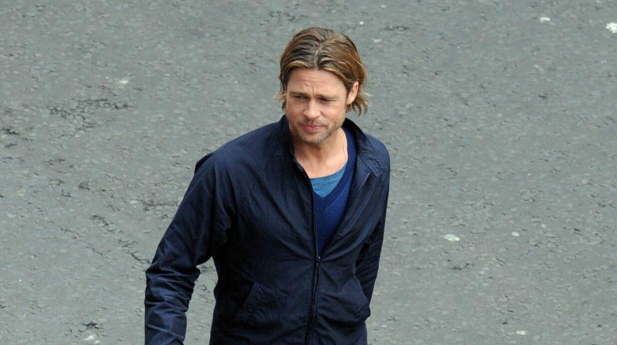 Brad Pitt sauve une figurante