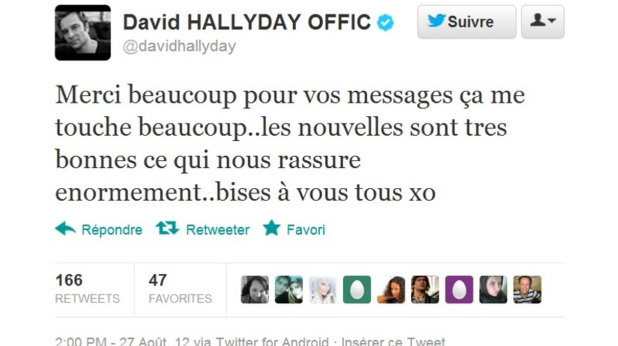 Johnny Hallyday: toujours en réanimation mais «les nouvelles sont bonnes» selon David
