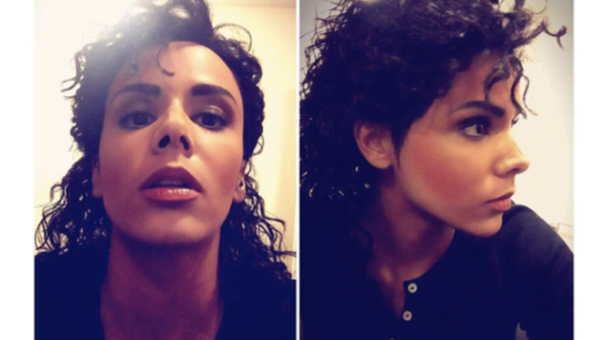 PHOTOS L'incroyable transformation de Shy'm en Michael Jackson