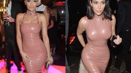 PHOTOS Grosse honte: Kim Kardashian et Rita Ora portent (presque) la même robe
