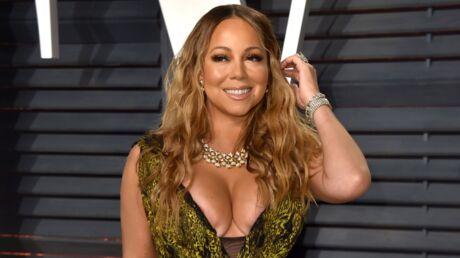 Mariah Carey aux Oscars: comprimée dans un décolleté trop serré, sa poitrine risque l'explosion