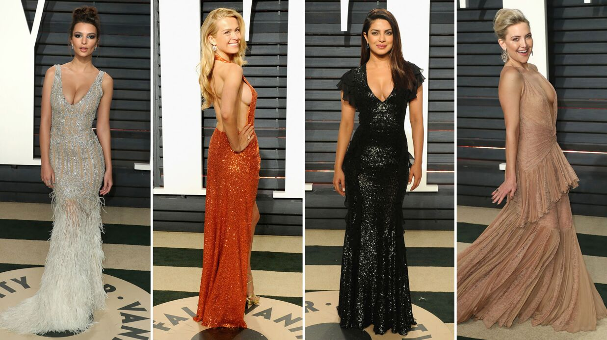 PHOTOS Soirée Vanity Fair : décol­le­tés, robes fendues, side boob, l'af­ter party très sexy des Oscars