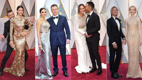 PHOTOS Les couples des Oscars 2017: Justin Timberlake amoureux, le baiser de Nicole Kidman…