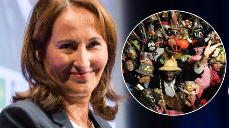 PHOTOS Sombrero et boa en plumes: Ségolène Royal s'éclate au carnaval de Dunkerque