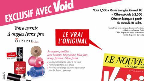 Un choix de 5 vernis à ongles Lycra® pro de Rimmel avec le prochain numéro de Voici!