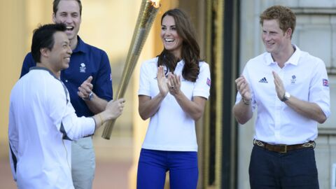 PHOTOS Le prince William et Kate Middleton accueillent la flamme olympique