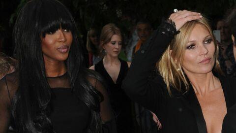 DIAPO Kate Moss et Naomi Campbell se retrouvent en soirée… sans dessous