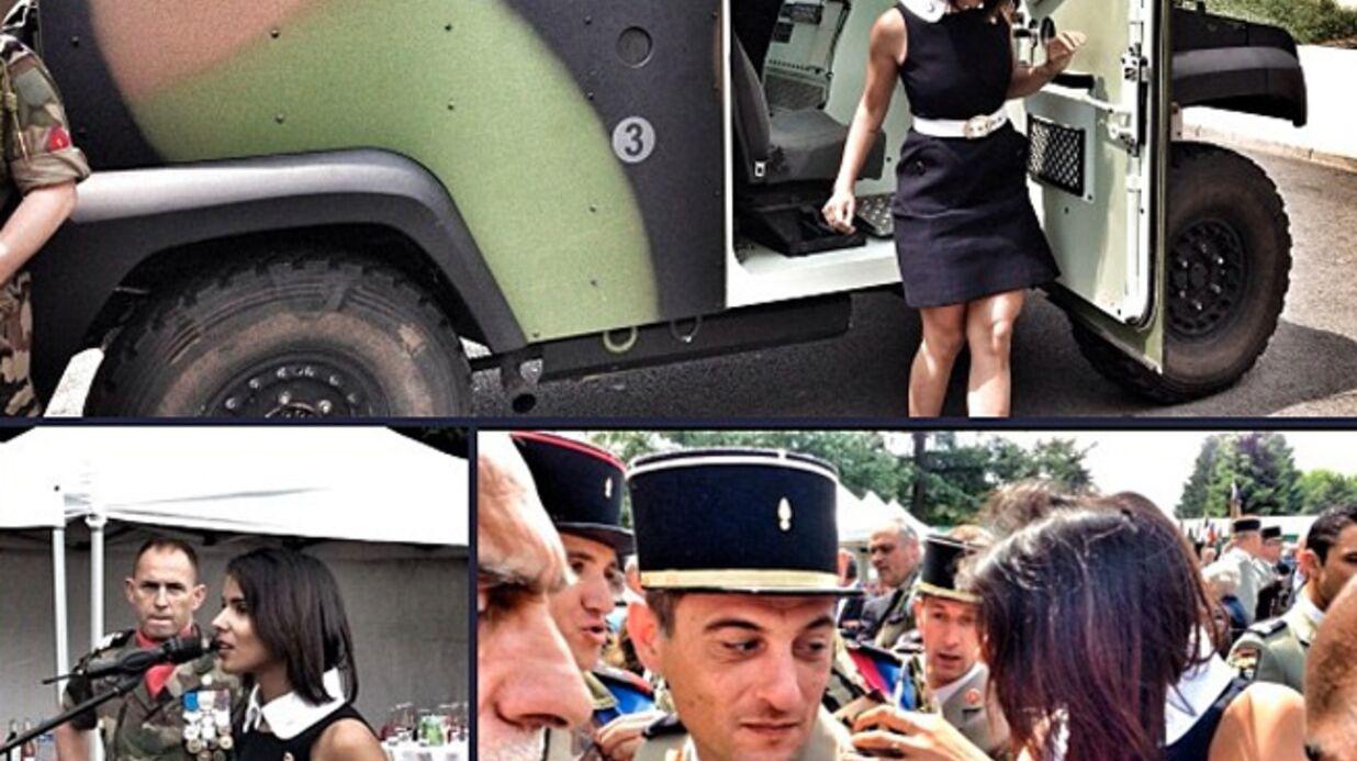 PHOTOS Shy'm devient marraine d'un régiment militaire