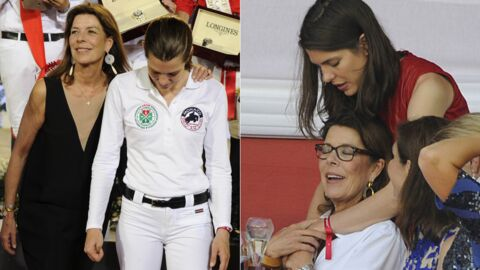 PHOTOS Charlotte Casiraghi: de beaux instants complices avec sa mère au Jumping de Monte Carlo