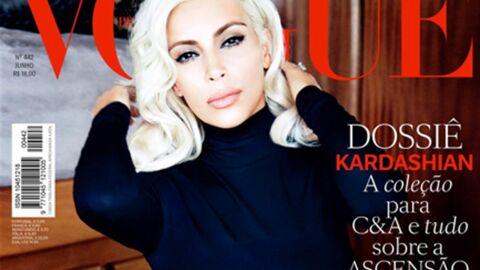 PHOTOS Kim Kardashian vamp blonde et topless pour le Vogue brésilien
