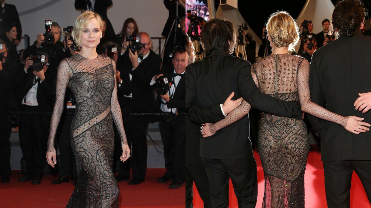 PHOTOS Cannes 2017: Diane Kruger éblouissante en robe transparente