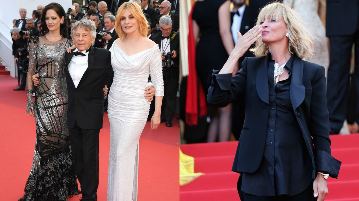 DIAPO Cannes 2017: Eva Green hypnotisante dans sa robe argentée, Uma Thurman rayonnante