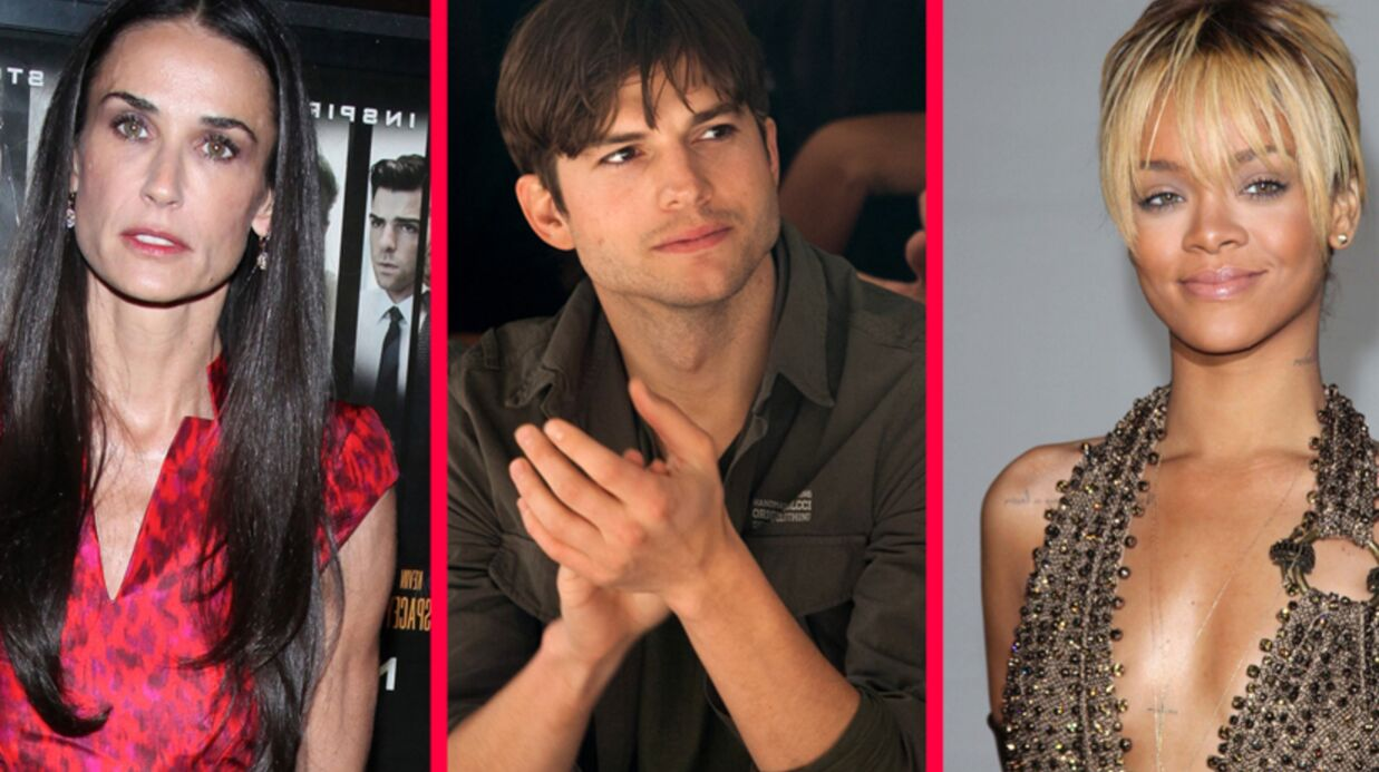 Demi Moore dévastée par la supposée liaison entre Ashton Kutcher et Rihanna