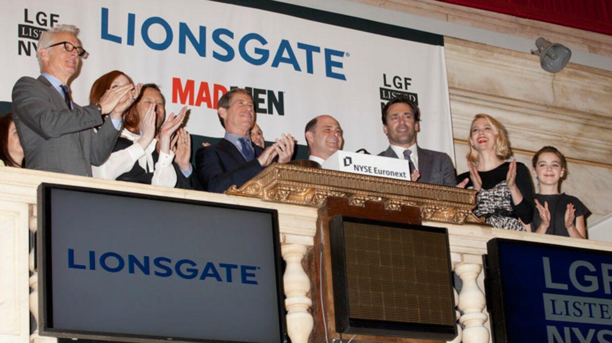 PHOTOS Les acteurs de Mad Men ouvrent la bourse de New York