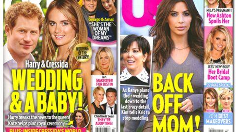 En direct des US: un mariage et un bébé pour Harry et Cressida