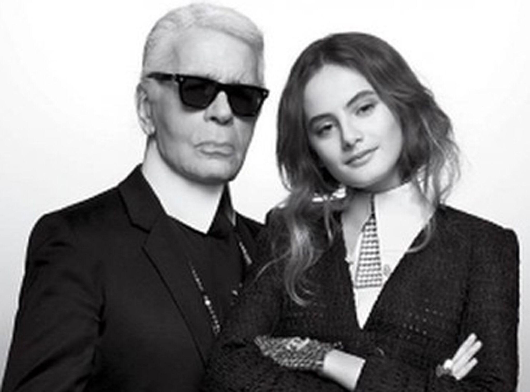PHOTOS Karl Lagerfeld   sa nouvelle protégée, Violette, la fille d Inès de  la Fressange - Voici ee73d3609948