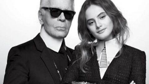 PHOTOS Karl Lagerfeld: sa nouvelle protégée, Violette, la fille d'Inès de la Fressange