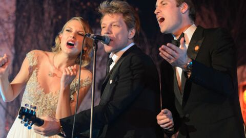 PHOTOS Le prince William chante avec Bon Jovi et Taylor Swift pour la bonne cause
