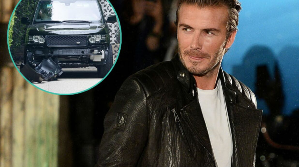 PHOTOS David Beckham victime d'un accident de voiture