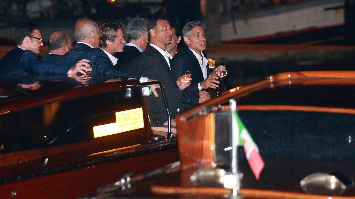 PHOTOS George Clooney et Amal Alamuddin: une fête entre amis avant le mariage