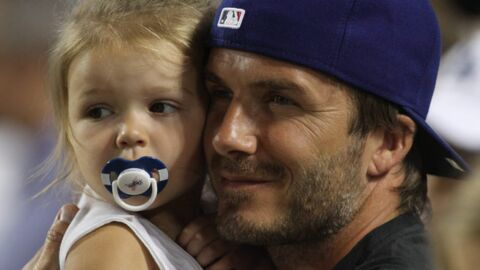 DIAPO David Beckham, un papa fou de sa petite Harper