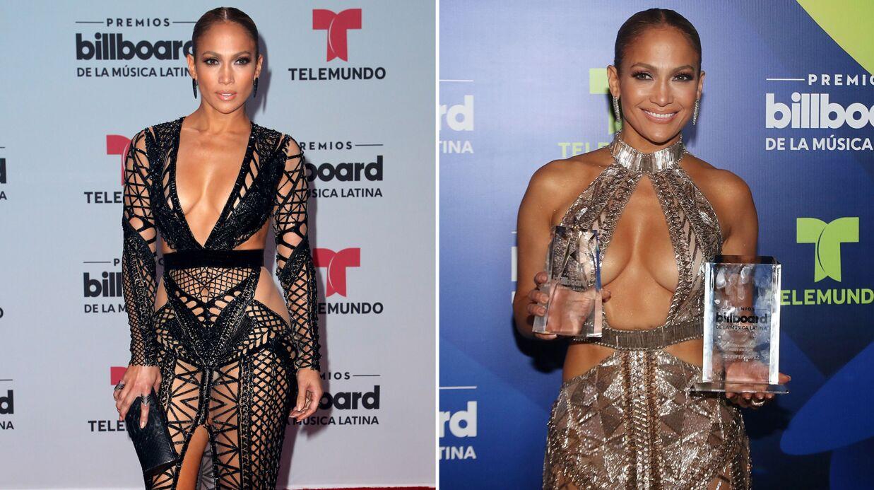 PHOTOS Jennifer Lopez ose les robes sexy, ultra décolletées (et pas que) aux Latin Awards