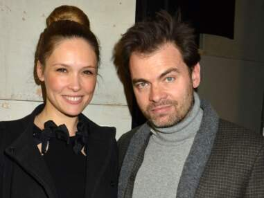 Clovis Cornillac et sa compagne Lilou Fogli enceinte au défilé Alexis Mabille