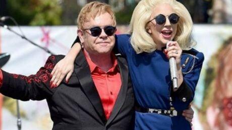Lady Gaga rejoint Elton John pour un concert surprise à Hollywood