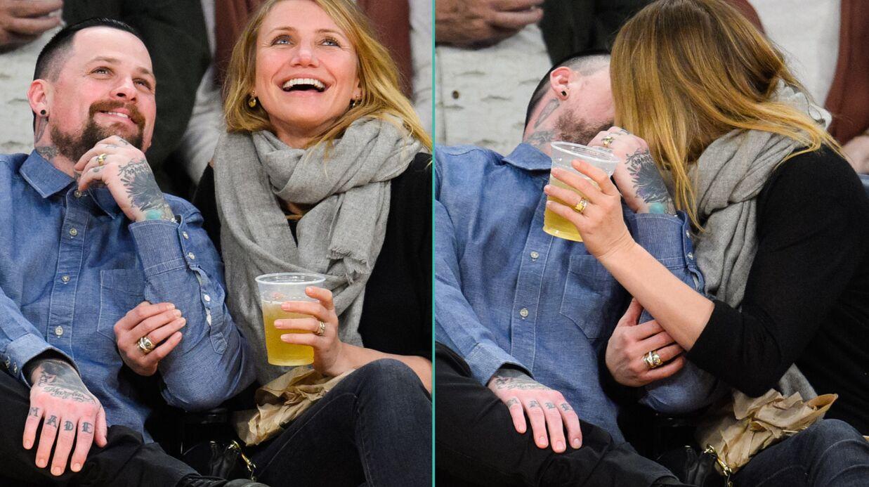 PHOTOS Cameron Diaz et Benji Madden s'offrent un adorable baiser en public