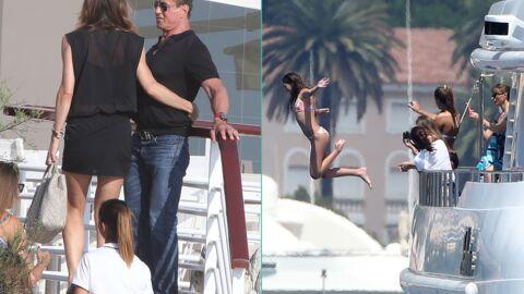 PHOTOS Sylvester Stallone se la coule douce sur la Côte d'Azur avec sa tribu féminine