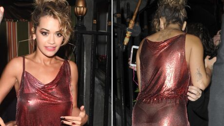 PHOTOS Rita Ora: seins nus sous une robe transparente, elle montre… son string