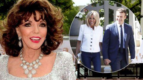 Cougar avérée, Joan Collins commente la différence d'âge entre Brigitte et Emmanuel Macron