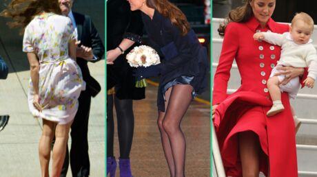 DIAPO Kate Middleton coutumière des «incidents» de robes
