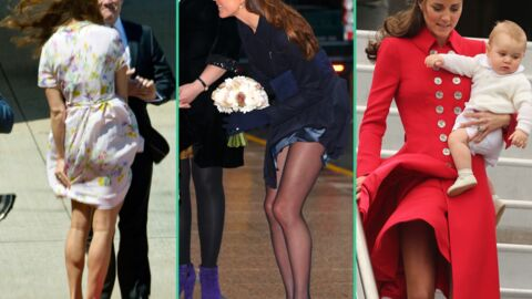 DIAPO Kate Middleton coutumière des « incidents » de robes