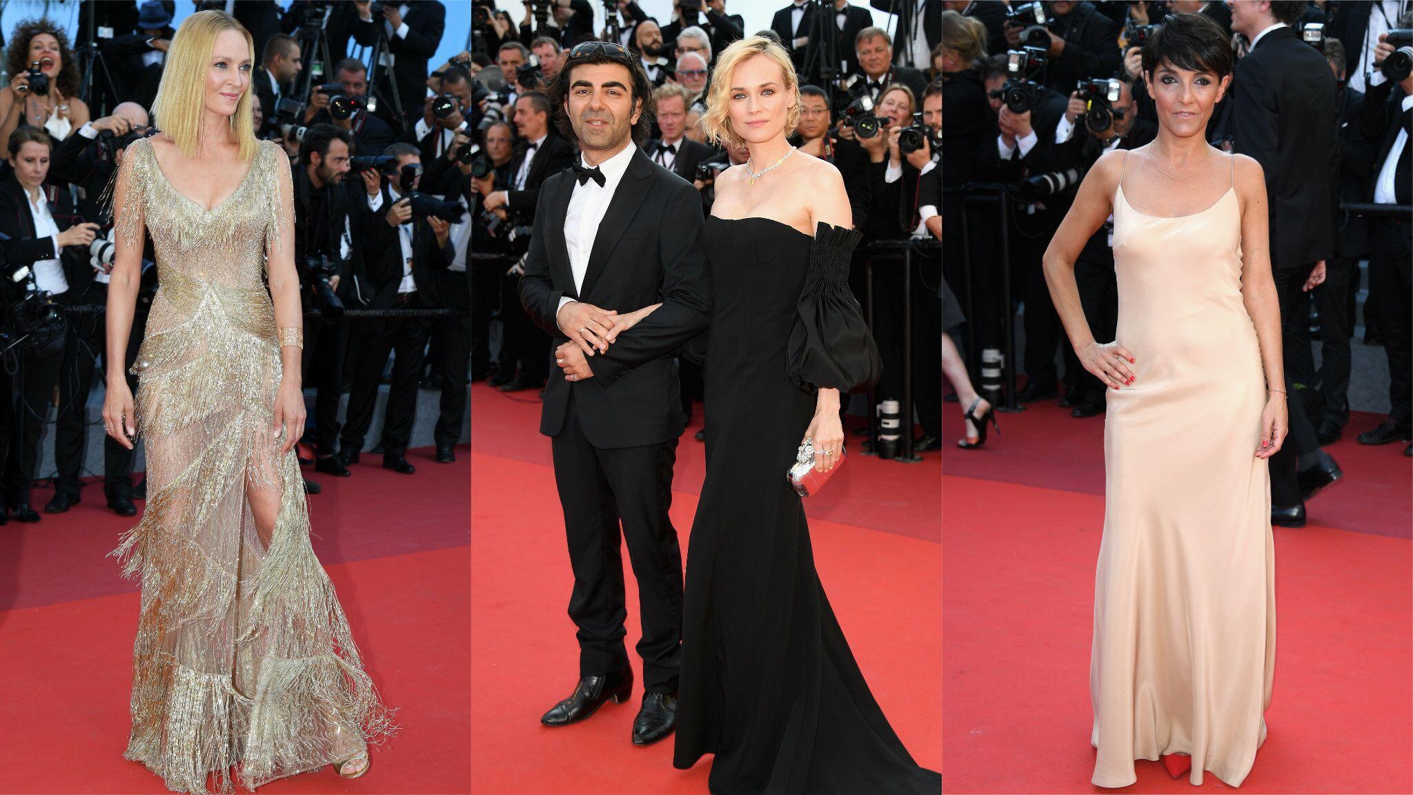 PHOTOS Cannes 2017 : Uma Thurman ose la transparence, Florence Foresti sexy pour la cérémonie de clôture