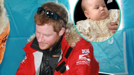 Le prince Harry heureux d'échapper aux pleurs du petit prince George