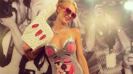 PHOTOS Paris Hilton se déguise en Miley Cyrus pour Halloween