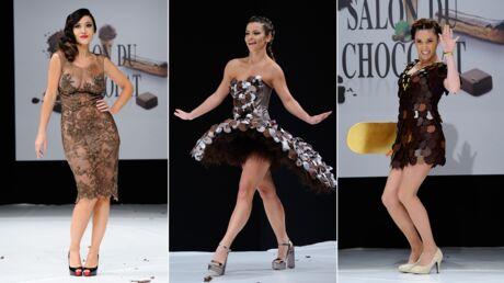 PHOTOS Fabienne Carat ultra décolletée, Capucine Anav, Denitsa sexy pour le défilé du Salon du Chocolat