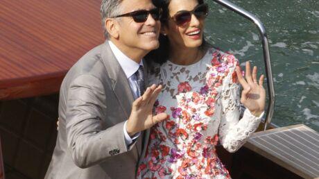 PHOTOS La première apparition officielle de George Clooney et son épouse, Amal Alamuddin