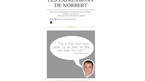 Top Chef: un site répertorie les pires répliques de Norbert