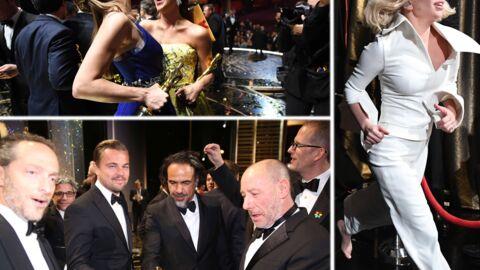 DIAPO Leonardo DiCaprio très calin, Brie Larson et Alicia Vikander complices: les Oscars vus des coulisses