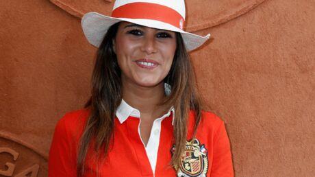 DIAPOS Roland-Garros 2014: Karine Ferri chic et sport